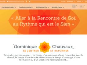dominiquechauvaux.be administration de site création