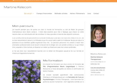 Martine Kelecom – Psychothérapeute